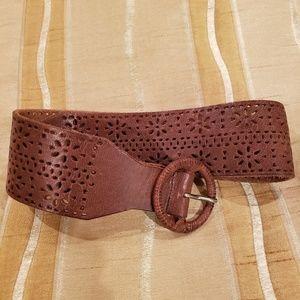 Brown leather Holister belt
